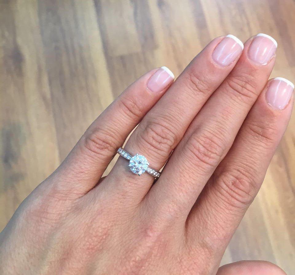 2.25 Carat Diamond Engagement Ring Natural Certified E SI2