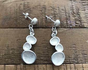 Sterling Silver earrings, dangle earrings, modern earrings