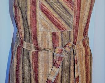 Stripes all around apron