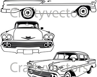 Chevrolet Bel Air 1958 Vector File