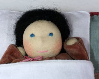 Cuddle doll, Waldorf doll, Waldorf first doll, Waldorf Cuddle Doll, Sleeping doll, Waldorf baby, Steiner doll, Primitive Doll, Pocket doll