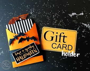 KIT Spooky Gift Card Holder, Teacher Appreciation, Employee Halloween Gifts, Employee Appreciation, Client Gifts , Party favor, Gift Cards