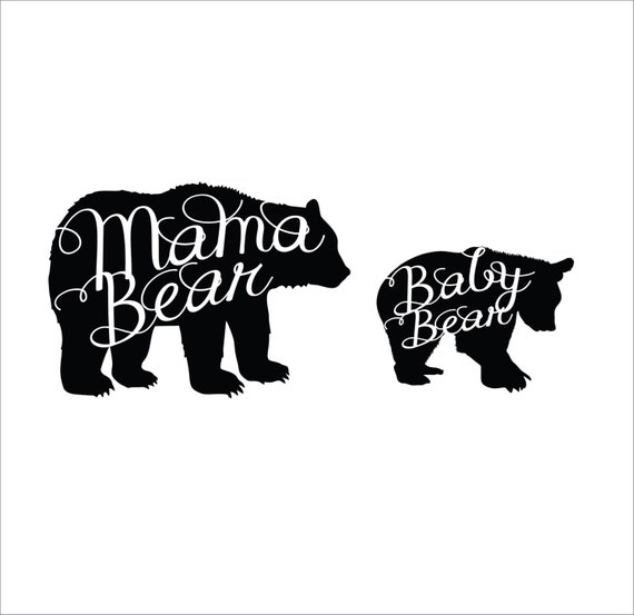 Items Similar To Mama Bear And Baby Bear Silhouette Script