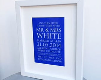 Wedding Day keepsake print