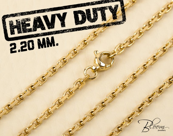 chain yellow premium chains curb jewelry lb mens heavy gold hip miami cuban solid hop
