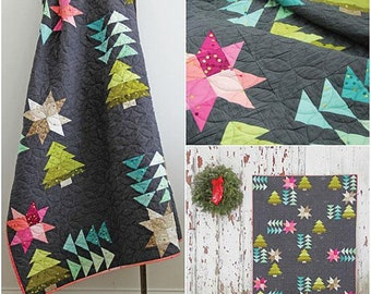 Home for the Holidays Quilt Pattern - V and Co #VC1253 - Modern Christmas Tree Quilt Pattern - Christmas Quilt Pattern