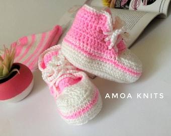 Baby booties Pinky
