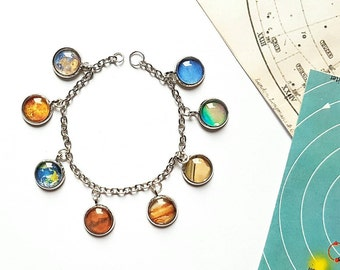 Solar System Bracelet // Solar System Jewelry // Planet Bracelet // Space Jewelry // Space Bracelet // Science Gift
