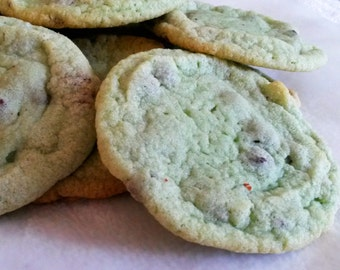 1 Dozen Mint Chocolate Chip Cookies