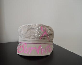 Cancer Survivor Hat, with Swarovski Crystals