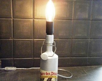 Lampe Bière des Druides, upcycling et détournement