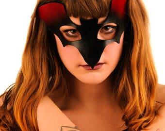 Artisan Leather Bat Mask