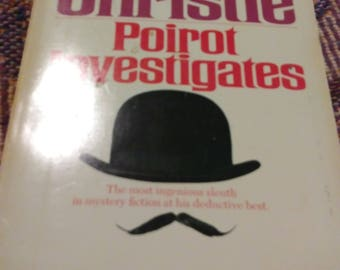 Agatha Christie Poirot Investigates vintage paperback book