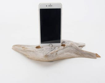 Docking Station for iPhone, iPhone dock, iPhone Charger, iPhone Charging Station, iPhone driftwood dock, wood iPhone dock/ Driftwood-No.1017