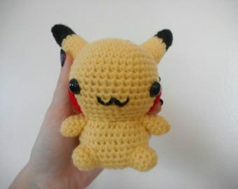 Pikachu plush/Pokemon plush/crochet Pikachu/crochet Pokemon/plush Pikachu/crochet plush/handmade plush/Pikachu stuffed animal/Pokemon Pikach