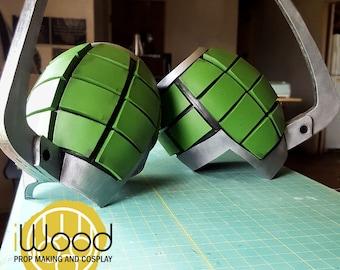 Boku No Hero Bakugo Cosplay Armor/Gauntlet Katsuki Kacchan  Grenade Pattern