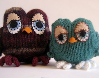 Owls Knitting Pattern