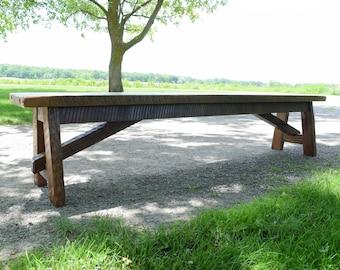 Barnwood benches