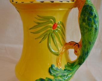 Burleigh Ware Art Deco Parrot Pitcher Jug