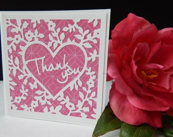 Thank you heart- Thank you Card with Envelope