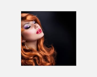 Red Haired Girl Poster or Canvas