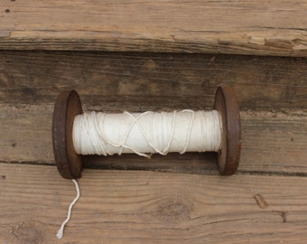 Sturdy Wooden Spool with Cotton Twine