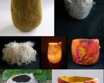 Making a Wet Felted Vessel using a 3D resist Instant Download