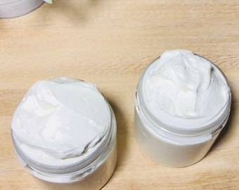 Handmade Whipped Body Butter For Skin and Natural Hair. Shea Butter. Vegan. Good for Travel and for Gifts. Natural Whipped Shea  Butter