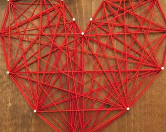 Red Heart String Art