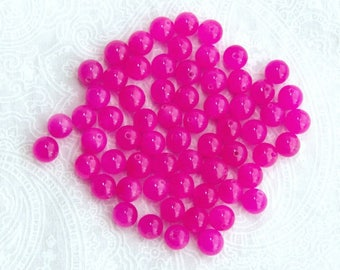 Perles de Quartz rose Fuchsia rose Perles 6mm Quartz rose pierre perles