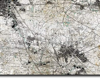 Map of wolverhampton Etsy