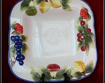 Fruit Edged Decorative Platter, decorative platter, platter, serving dish, gift for her