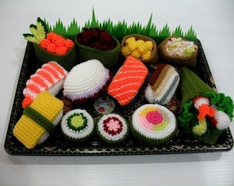 Crochet Pattern - SUSHI - play food \/ toys