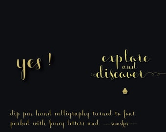 Digital Font | INSTANT DOWNLOAD| monmica font (swash bonanza) | single font file | Open Type Font (.otf)