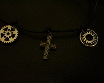Radiant Faith Rider Cycling Vibe Metal Charms Necklace