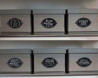 Chalkboard Style Medicine Storage Labels | INSTANT DOWNLOAD | Organization Labels |  Printables | Storage Bins | Box Labels | Medicine Tags