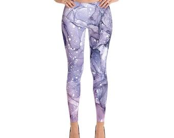 Purple Abstract Art Leggings
