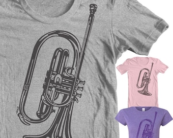 Mellophone Instrument T shirt Musical T shirt Gifts for Musicians Marching Band Band Geek Bugle Corps Drum Marching Music French Horn
