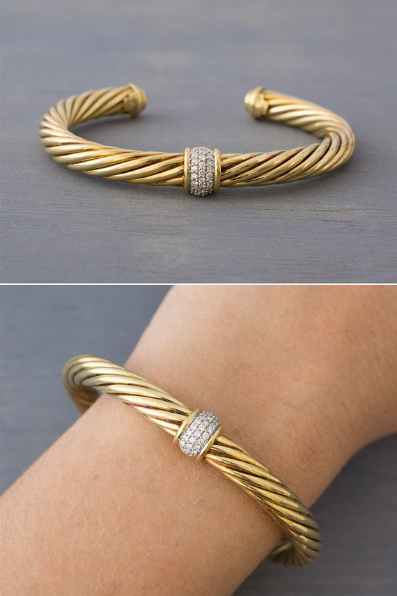 and yellow women grey alor classique product bracelets category bangles gold s bracelet cable designer diamond ladies