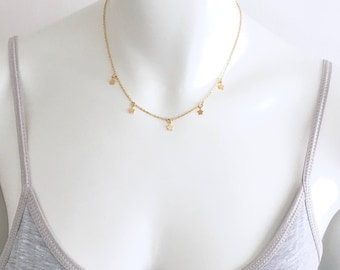 5 X MINI STAR Necklace 14k Gold Filled, thin gold minimalist necklace, everyday golden star necklace, delicate necklace, by Little Motives