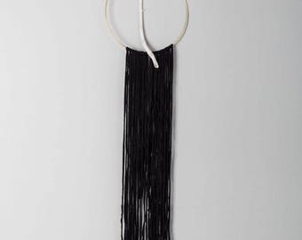 Inola, Modern Minimal dreamcatcher with white branch and pink feathers