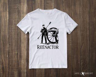 Civil War Reenactor Unisex T-Shirt - Reenactment - History - Historical - Living History