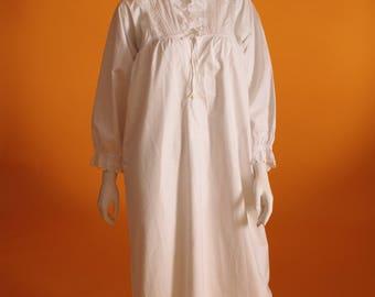 Vintage Original Victorian White Cotton Night Dress/Night Gown.