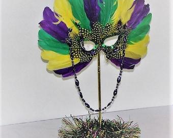 Mardi Gras Wedding Theme decoration centerpiece