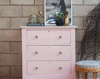 SOLD    Peachy pink drawers