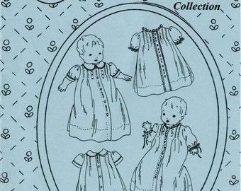 Daygowns / Sweet & Simple Daygowns Pattern  / Traditional Baby Pattern / Girls / Boys / by The Old Fashioned Baby