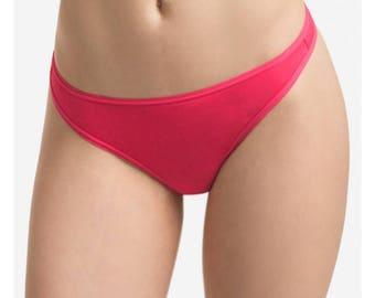 Thong Mid Rise No Show Panties / 6 Pack