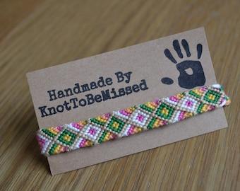 Children Size Handmade Woven Diamond Friendship Bracelet