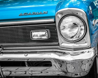 1967 Acadian Canso Car Photography, Automotive, Auto Dealer, Muscle, Sports Car, Mechanic, Boys Room, Garage, Dealership Art
