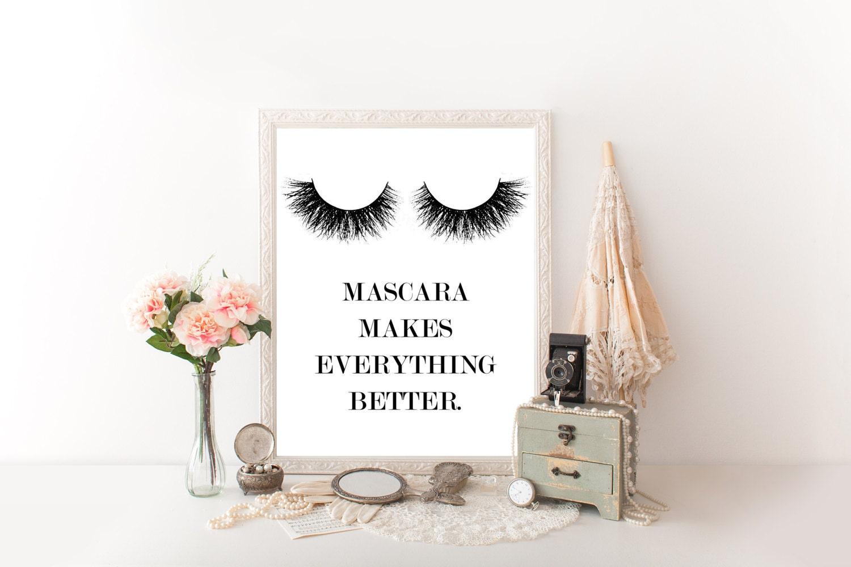 prints for bathroom makeup decor makeup wall art makeup canvas. Black Bedroom Furniture Sets. Home Design Ideas